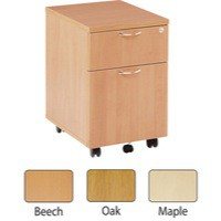 Jemini 2 Drawer Mobile Pedestal Maple