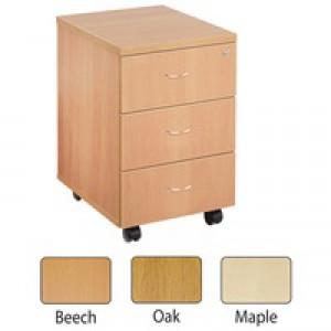 Jemini 3 Drawer Mobile Pedestal Maple KF72086