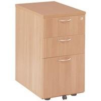 Jemini 3 Drawer Under Desk Pedestal Beech