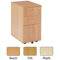 Jemini 3 Drawer Under Desk Pedestal Maple