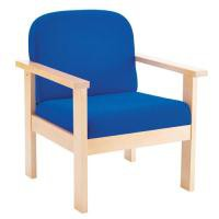 Arista Reception Wooden Armchair Blue