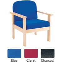 Arista Reception Wooden Armchair Claret
