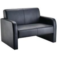 Arista Reception Sofa Flat Pack Black PU