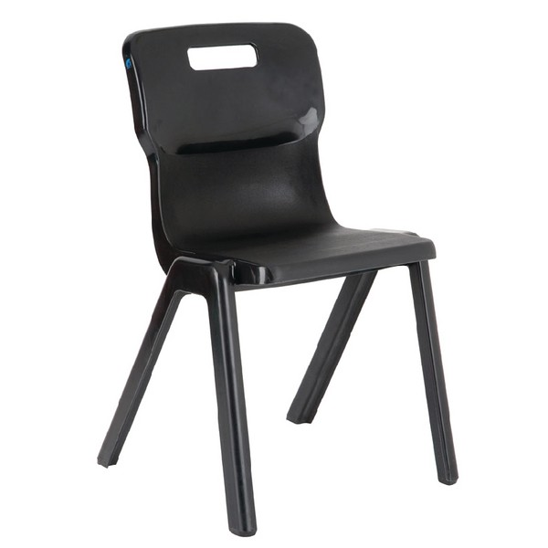 Titan One Piece School Chair Size 2 Charcoal