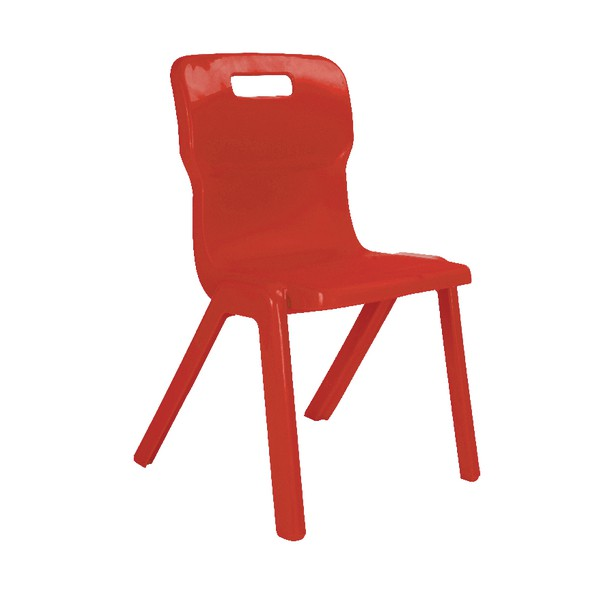 Titan One Piece School Chair Size 3 Red