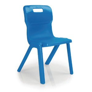 Titan One Piece School Chair Size 3 Blue KF72160
