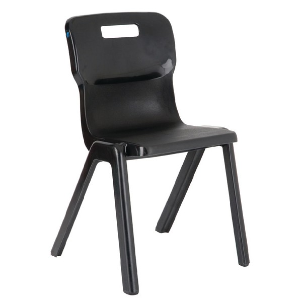 Titan One Piece School Chair Size 3 Charcoal