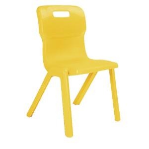 Titan One Piece School Chair Size 3 Yellow KF72163