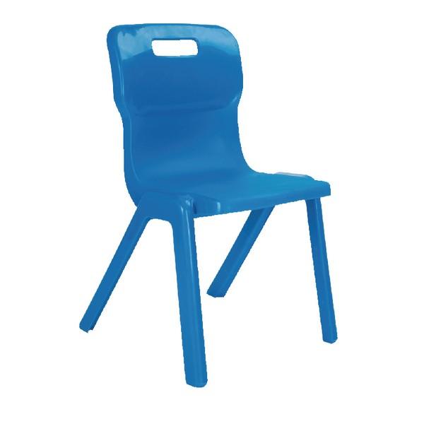 Titan One Piece School Chair Size 4 Blue