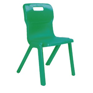 Titan One Piece School Chair Size 4 Green KF72166