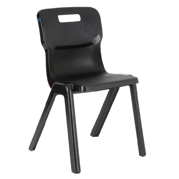 Titan One Piece School Chair Size 4 Charcoal