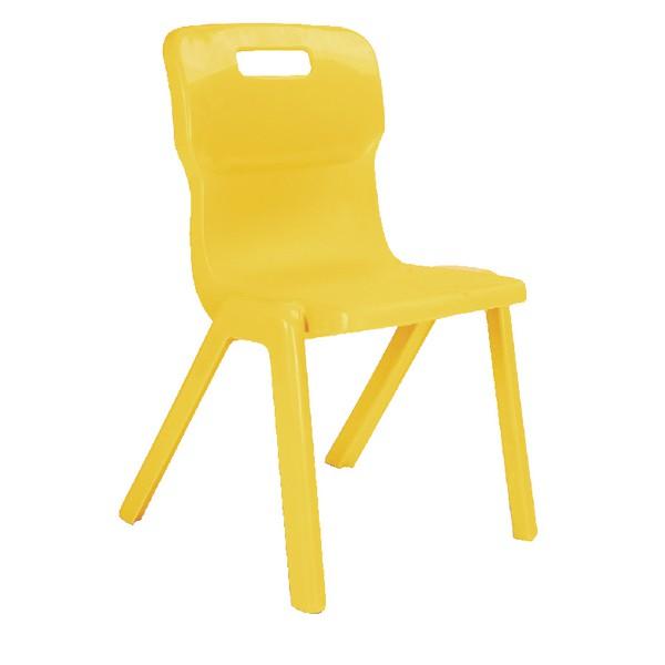 Titan One Piece School Chair Size 4 Yellow