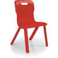 Titan One Piece School Chair Size 5 Red