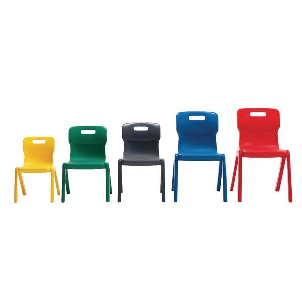 Titan One Piece School Chair Size 6 Red