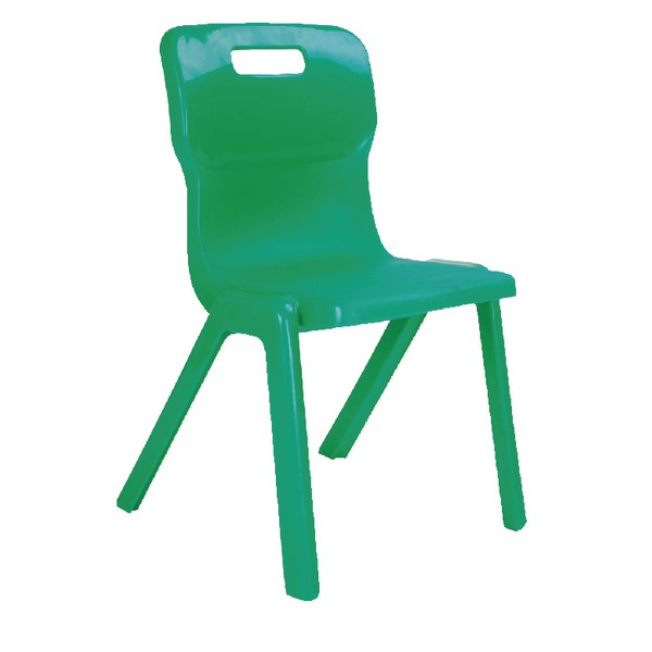Titan One Piece School Chair Size 6 Green