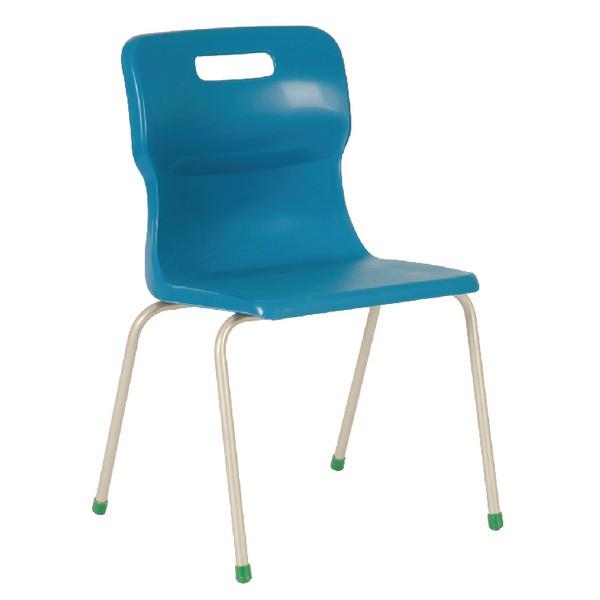 Titan 4 Leg Polypropylene School Chair Size 3 Blue