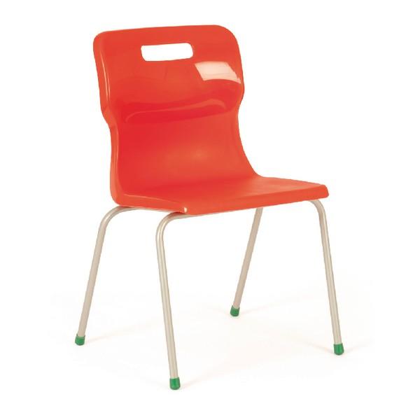 Titan 4 Leg Polypropylene School Chair Size 5 Red