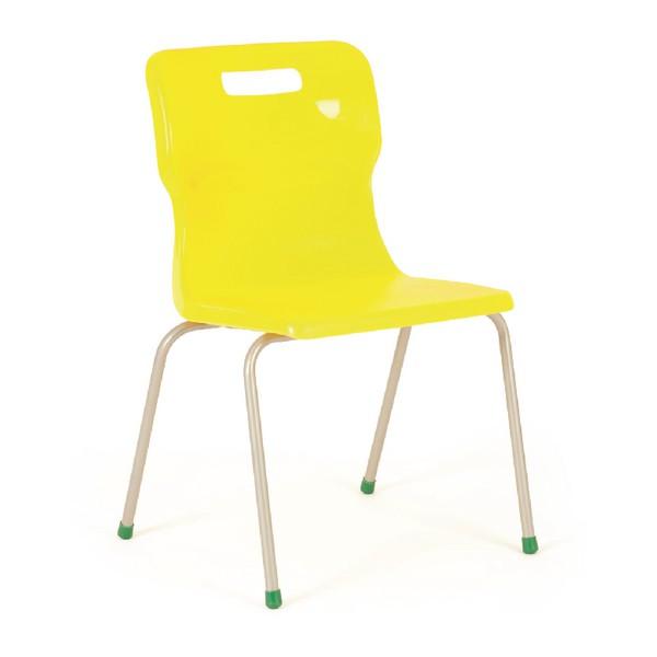 Titan 4 Leg Polypropylene School Chair Size 5 Yellow