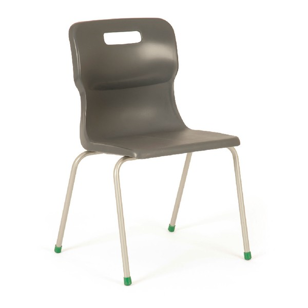 Titan 4 Leg Polypropylene School Chair Size 6 Charcoal