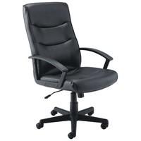 Jemini Leather Executive Armchair Black