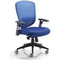 Arista Mesh High Back Task Chair with Headrest Blue