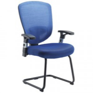 Arista Mesh Visitor Chair Blue KF72244