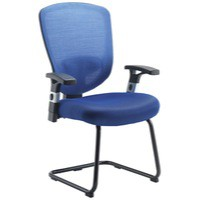 Arista Mesh Visitors Chair Blue