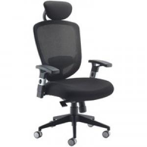 Arista Mesh High Back Task Chair with Headrest Black KF72245