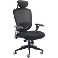 Arista Mesh High Back Task Chair with Headrest Black
