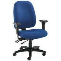 Avior Heavy Duty High Back Chair with Lumbar Blue