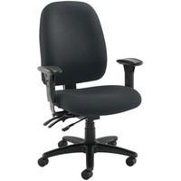 Avior Heavy Duty High Back Chair with Lumbar Black
