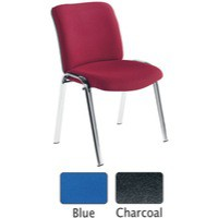 Avior Conference High Back Chrome Chair Charcoal