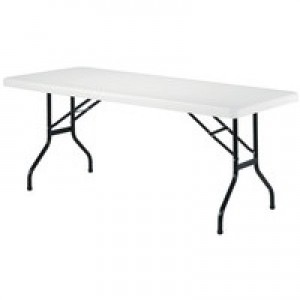 Jemini 1220mm Folding Rectangular Table White KF72328