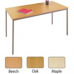 Jemini Rectangular Table 1200x800mm Beech KF72370