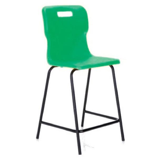 Titan Polypropylene High Chair 445mm Green T60