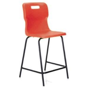 Titan Polypropylene High Chair 685mm Red T63