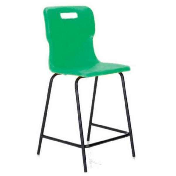 Titan Polypropylene High Chair 685mm Green T63