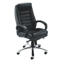 Avior Contemporary Executive Leather Chair Black