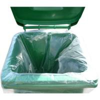 2Work Clear Wheelie Bin Liner Pk100 CLWBL