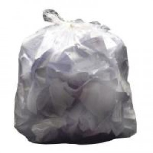 2Work Swing Bin Liner White Pk 1000 KF73379