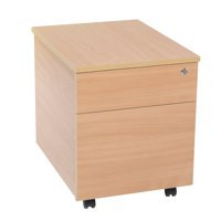 Jemini 2 Drawer Mobile Pedestal Bavarian Beech