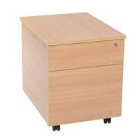 Jemini 2-Drawer Mobile Pedestal Beech
