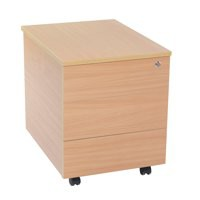 Jemini 3 Drawer Mobile Pedestal Bavarian Beech