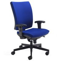 Arista High Back Chair Synchro Ocean Blue