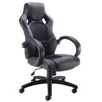 Arista Bolt Leather Racing Chair Black