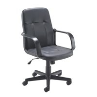 Jemini Trent Budget Leather Chair Black