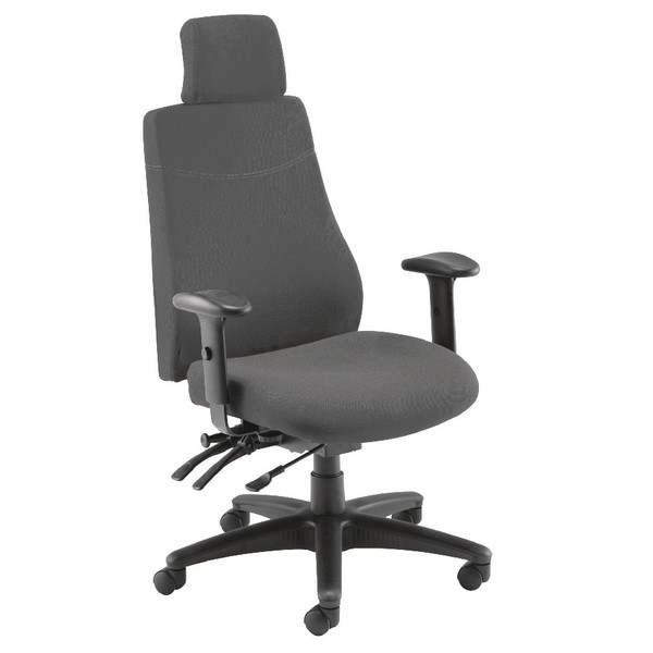 Avior Elbrus High Back Operator Chair Black