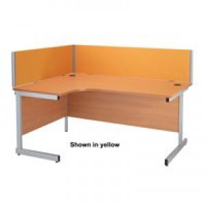 Jemini Straight Desk Screen 1600mm Blue KF73917