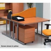 Jemini Wave Desk Screen 1200mm Black