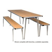 Jemini Aluminium Folding Table Rectangular Beech W1220xD685xH698mm
